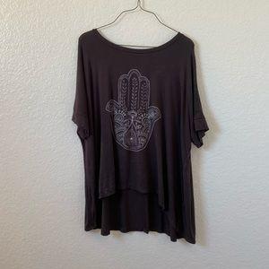American Eagle Hamsa Hand shirt